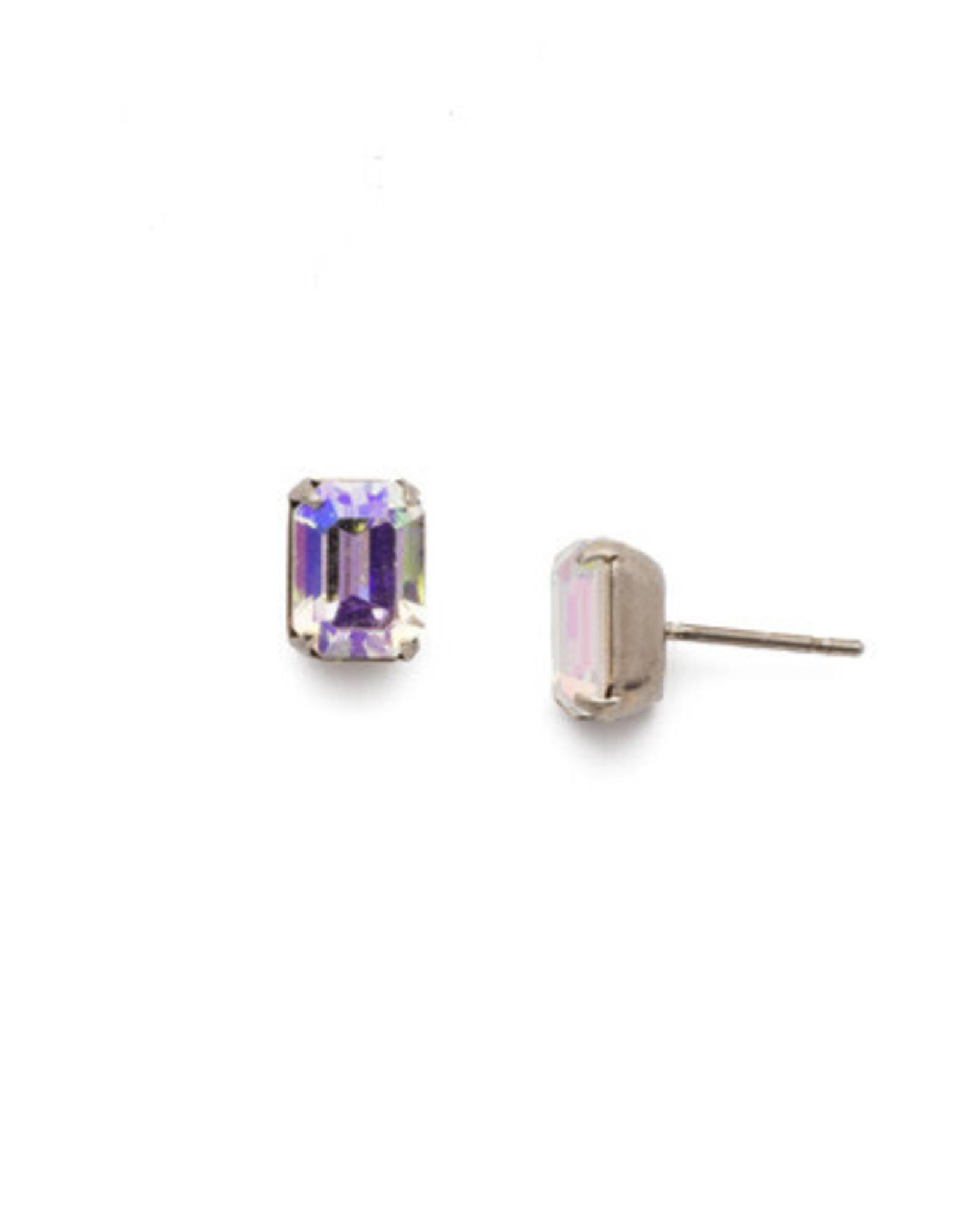 Sorrelli EBY42ASCAB - Crystal Aurora Borealis Mini Emerald Cut Stud Earring