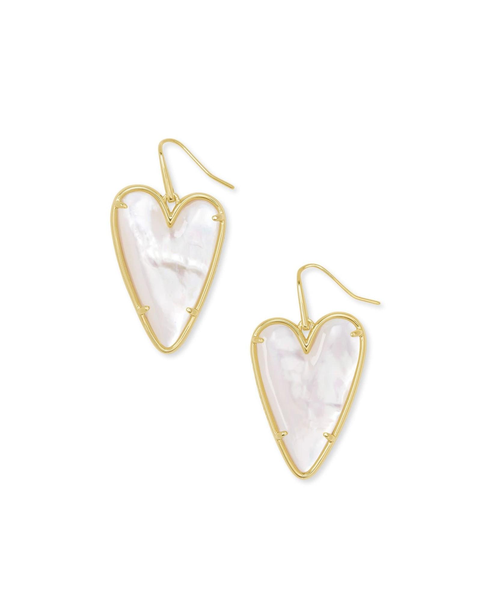 Kendra Scott Ansley Drop Earring - Ivory MOP/Gold