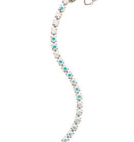 Sorrelli Crystal Aurora Borealis Repeating Round Crystal Line Bracelet