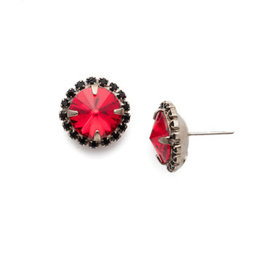 Sorrelli ECX98ASGDAR - Game Day Red Haute Halo Stud Earring