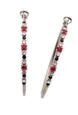 Sorrelli EDN79ASGDAR - Game Day Red Hoopla Hoop Earrings