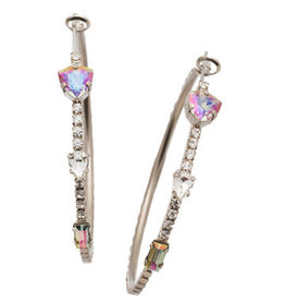 Sorrelli EEP33ASCRE  - Crystal Envy Meryl Hoop Earrings