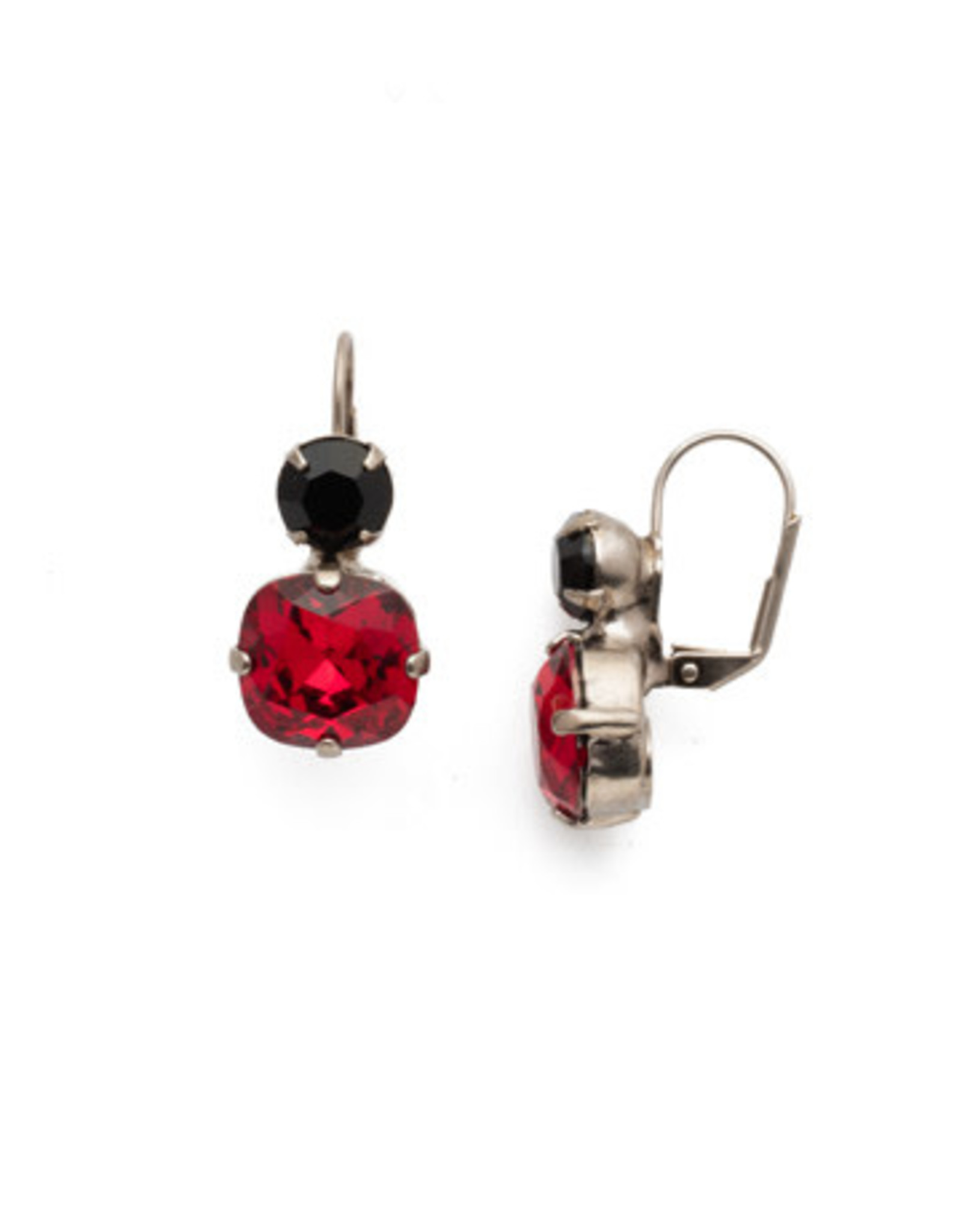 Sorrelli ECL4ASGDAR - Game Day Red On The Edge Dangle Earrings