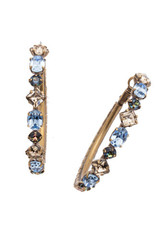 Sorrelli EEA23AGSDE - Selvedge Denim Sicily Hoop Earrings