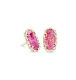 Kendra Scott Ellie Earring - Berry Opal/Gold