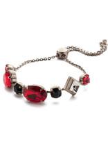 Sorrelli BEA29ASGDAR - Game Day Red Primavera Slider Bracelet