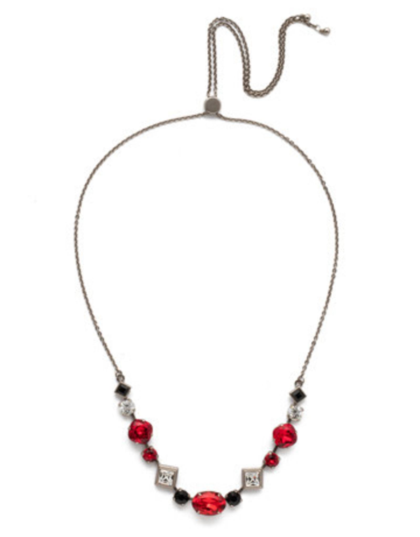 Sorrelli NEK29ASGDAR - Game Day Red Cordelia Tennis Necklace