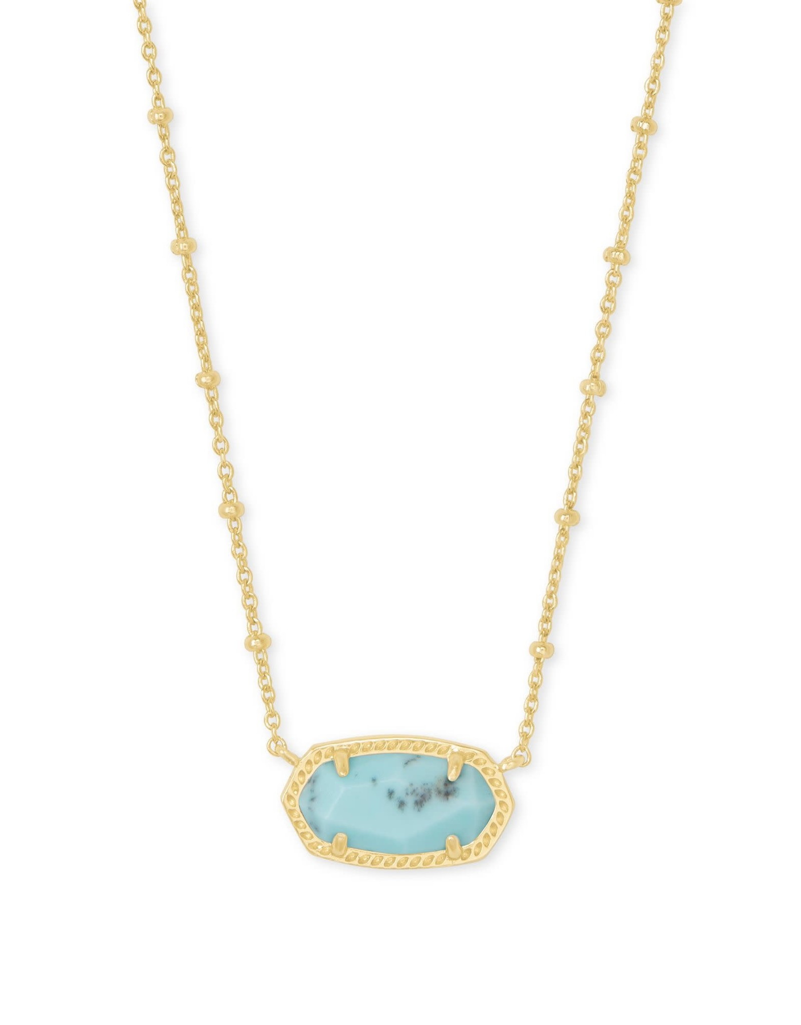 Kendra Scott Elisa Satellite Short Necklace - Light Blue Magnesite/Gold