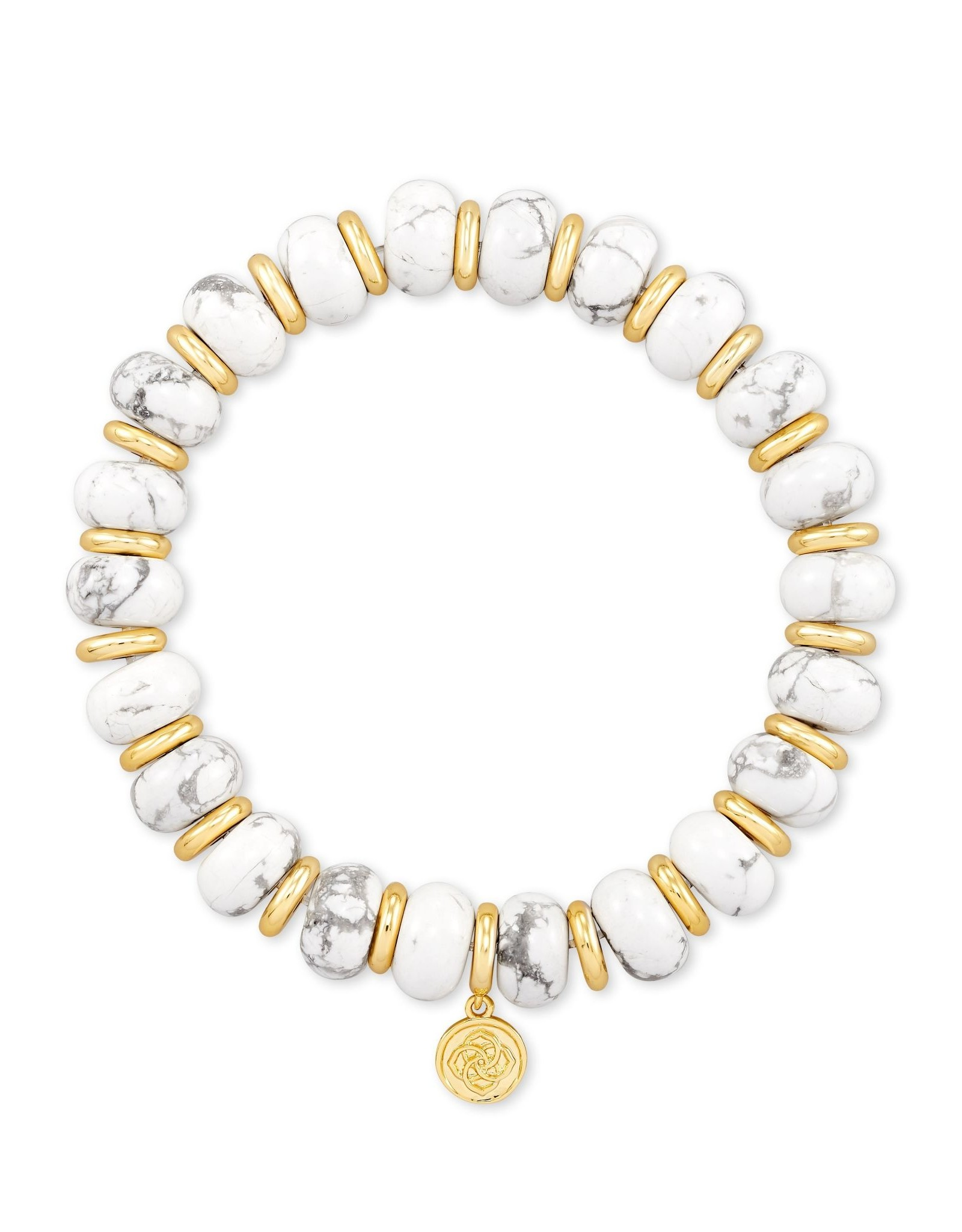 Kendra Scott Rebecca Stretch Bracelet - White Howlite/Gold