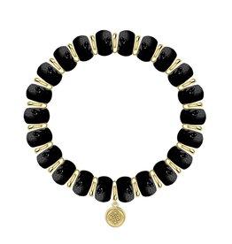 Kendra Scott Rebecca Stretch Bracelet - Black Agate/Gold