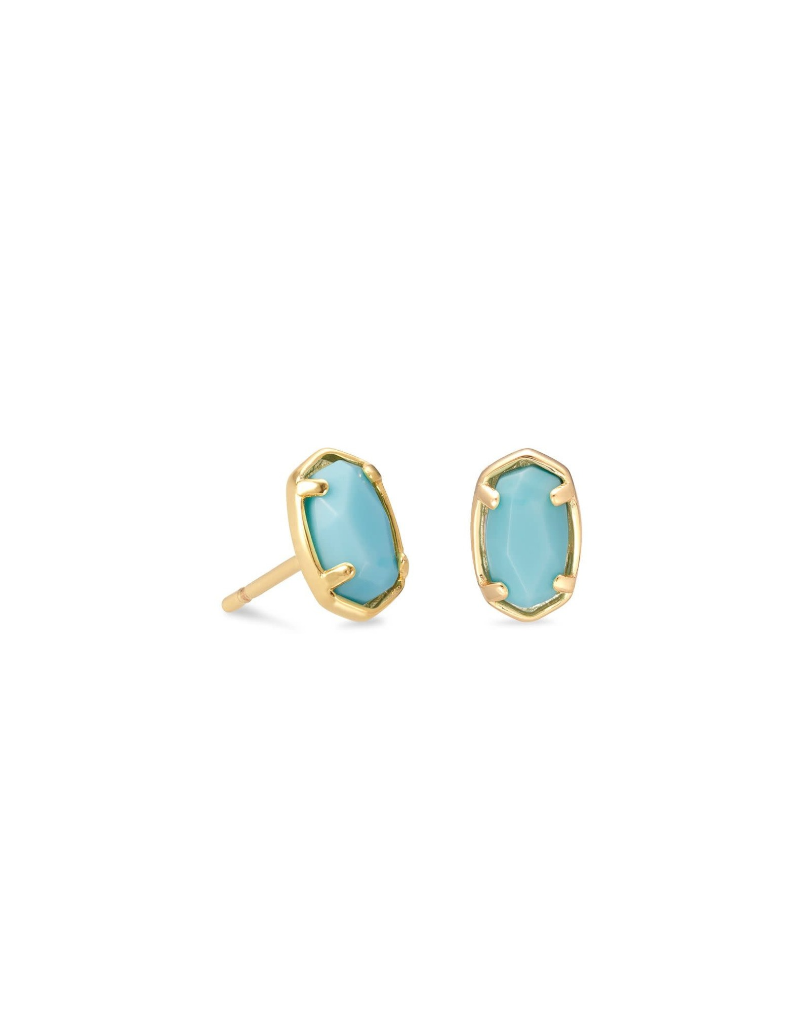 Kendra Scott Emilie Stud Earring - Light Blue Magnesite/Gold