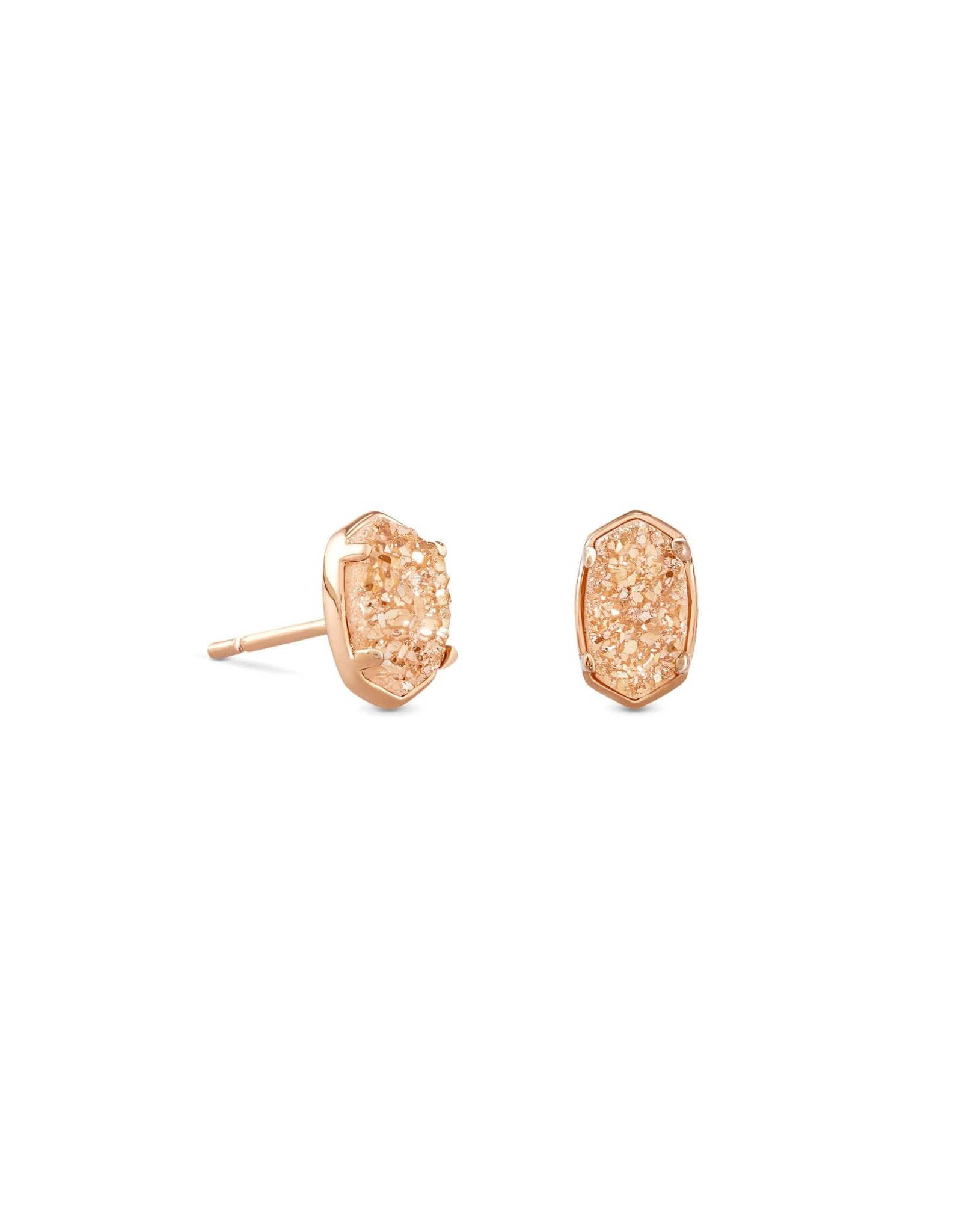 Kendra Scott Emilie Stud Earring - Rose Gold Drusy/Rose Gold