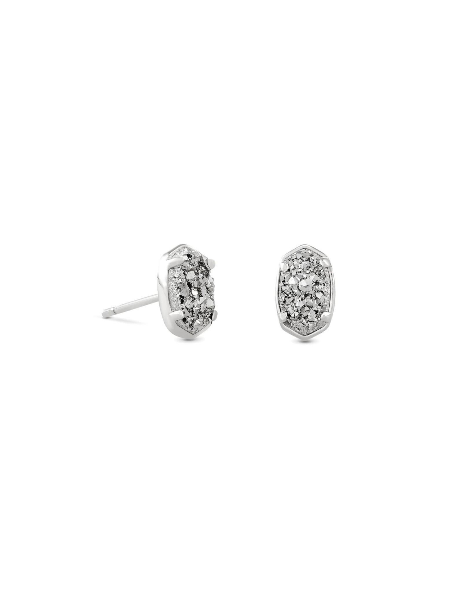 Kendra Scott Emilie Stud Earring - Platinum Drusy/Rhodium
