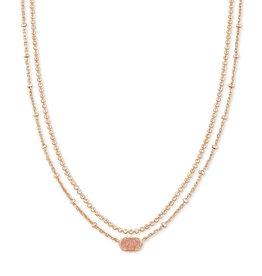 Kendra Scott Emilie Multi Strand Necklace - Rose Gold Drusy/Rose Gold