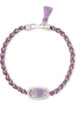 Kendra Scott Elaina Braided Friendship Bracelet - Purple Amethyst/Rhodium
