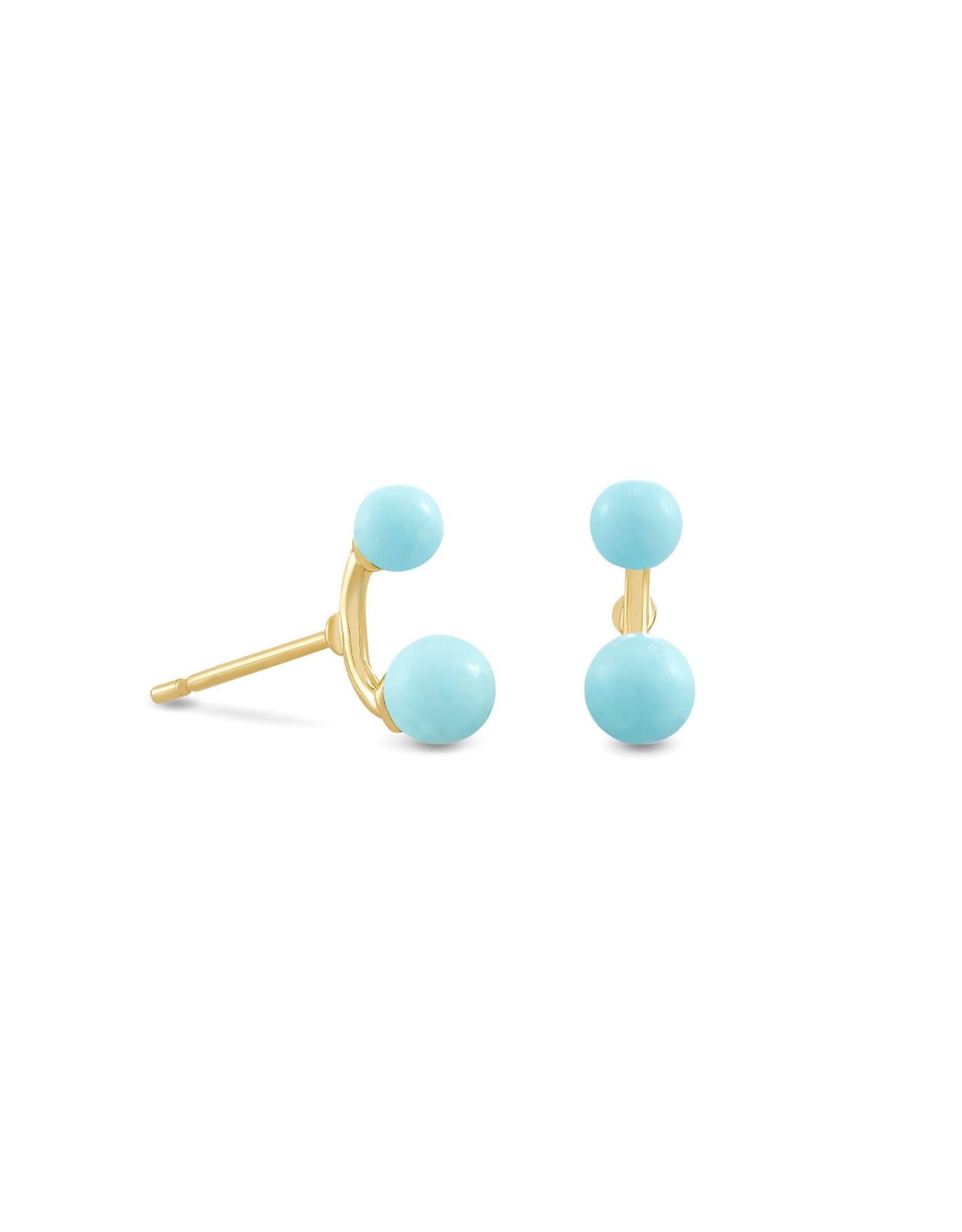 Kendra Scott Demi Stud Earring - Light Blue Magnesite/Gold