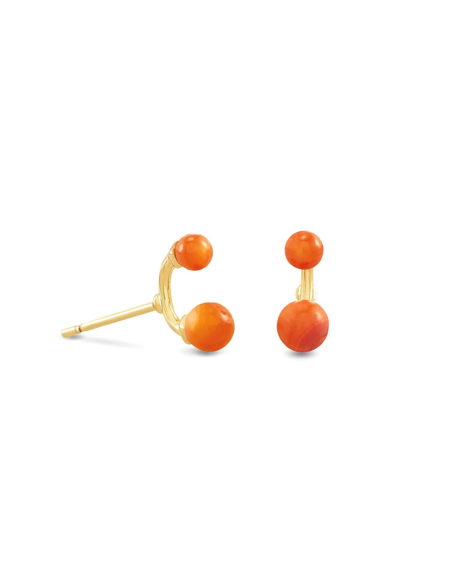 Kendra Scott Demi Stud Earring - Papaya Mother of Pearl/Gold