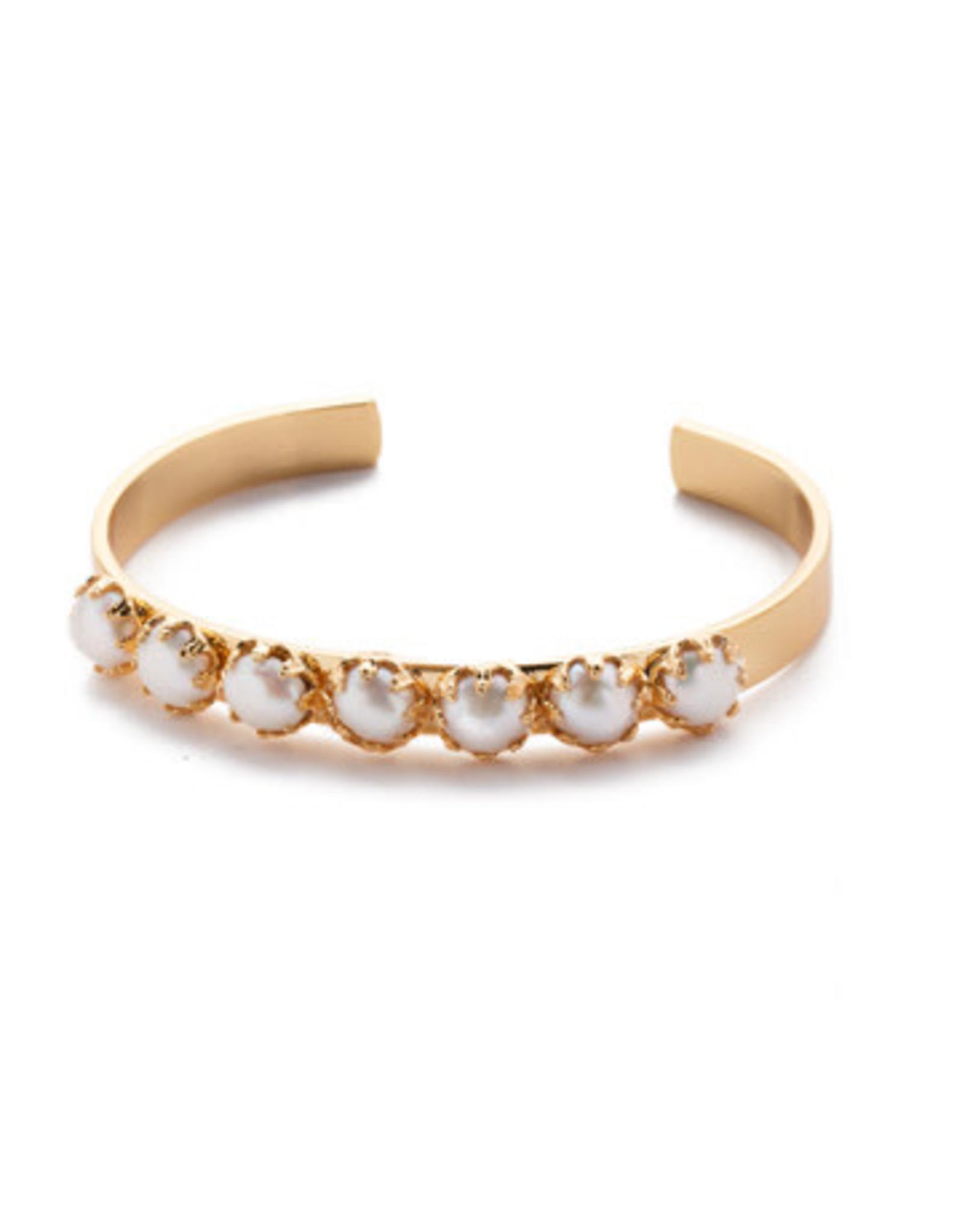 Sorrelli 4BES1BGMDP - Modern Pearl Citron Cuff Bracelet