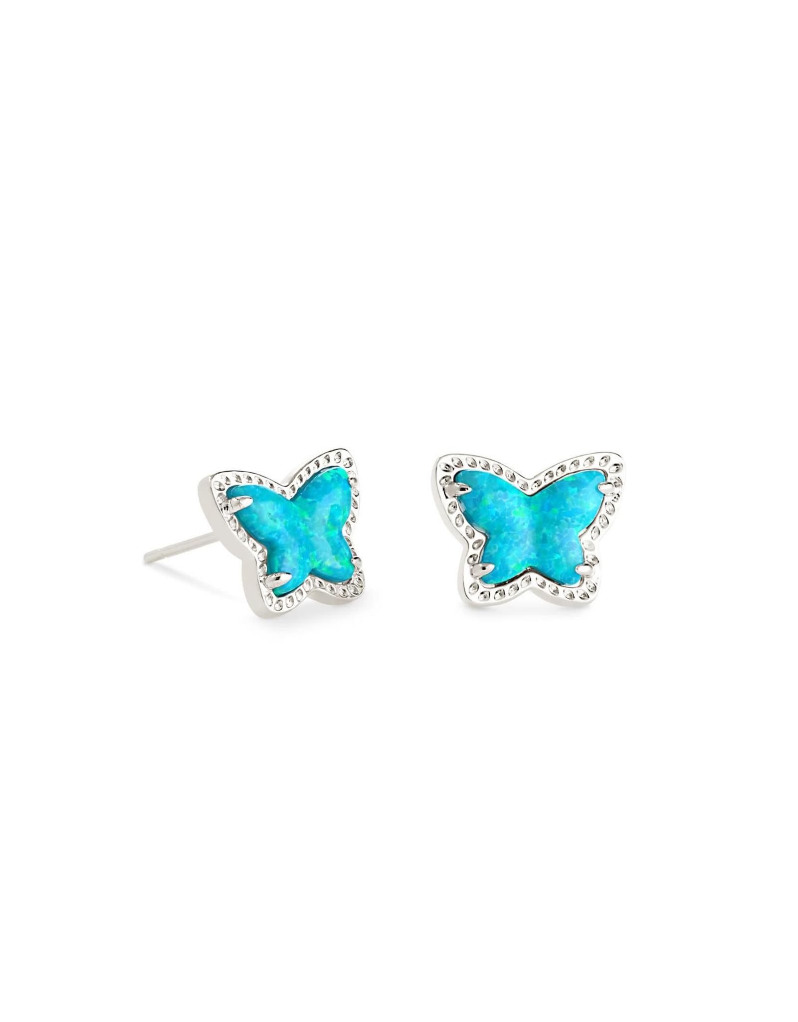 Kendra Scott Lillia Butterfly Stud Earring - Turquoise Opal/Rhodium