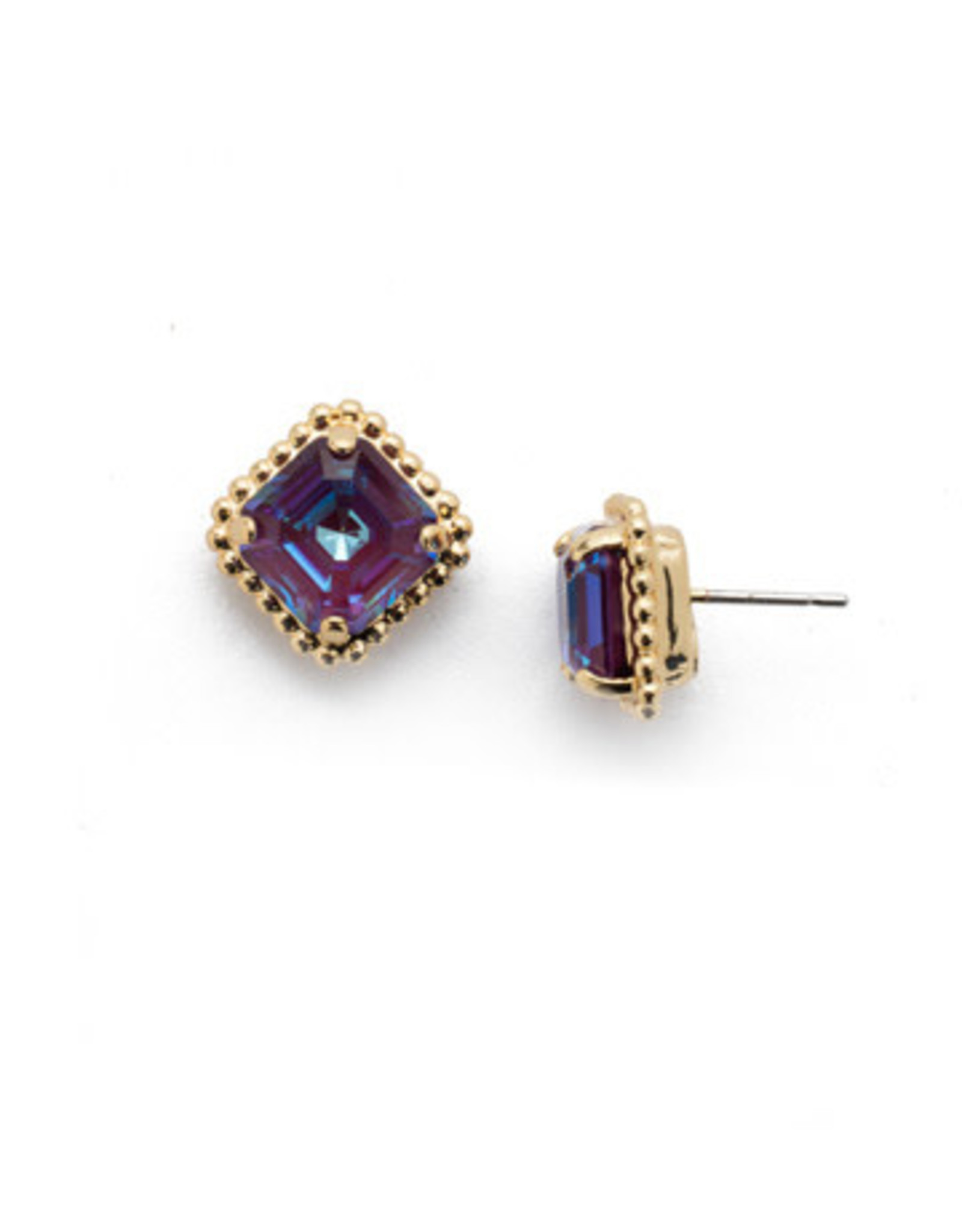 Sorrelli EBX10BGBGA - Begonia Cushion-Cut Solitaire Stud Earrings