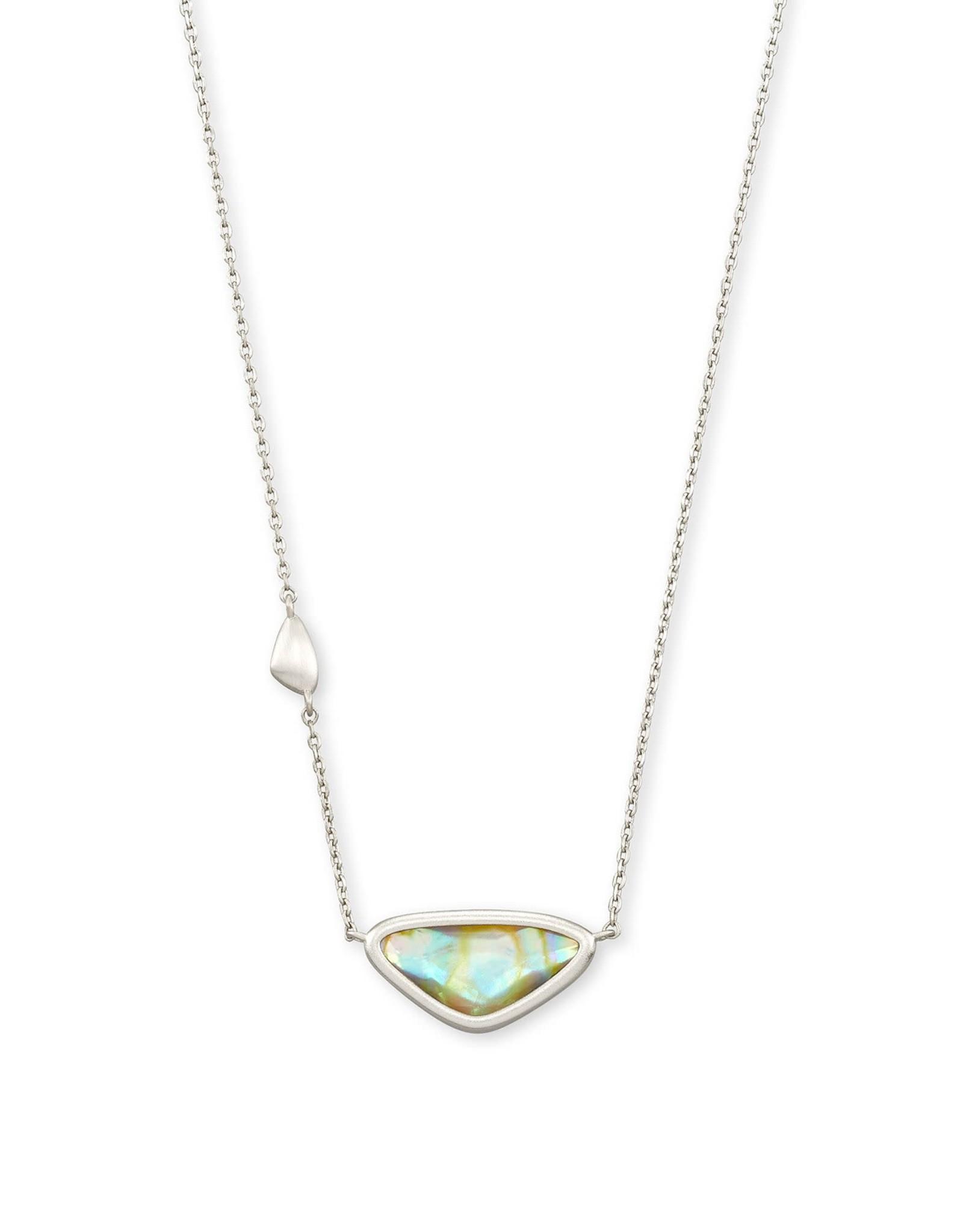 Kendra Scott Margot Pendant Necklace - Iridescent Abalone/Rhodium