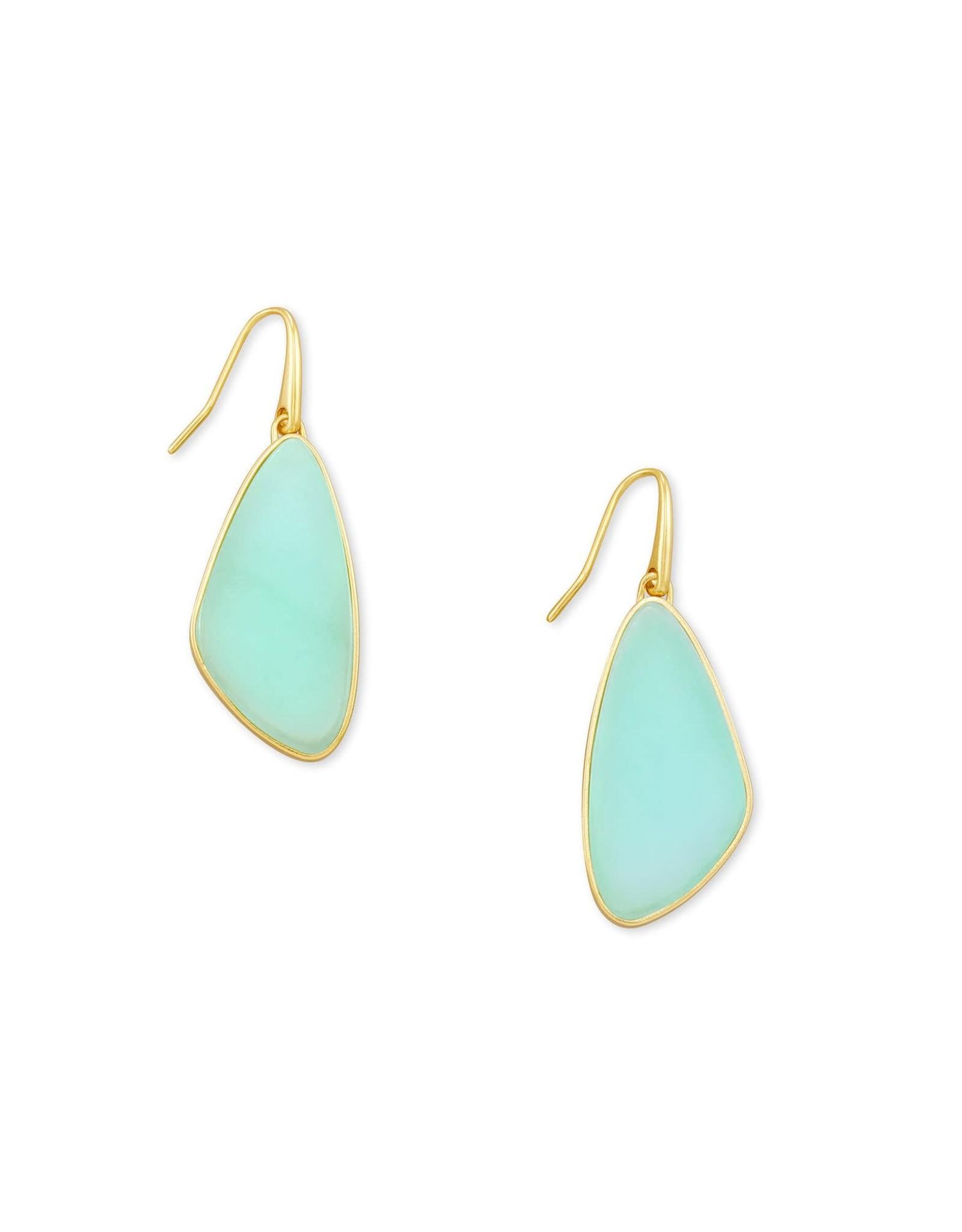 Kendra Scott McKenna Small Drop Earring - Matte Iridescent Mint/Gold