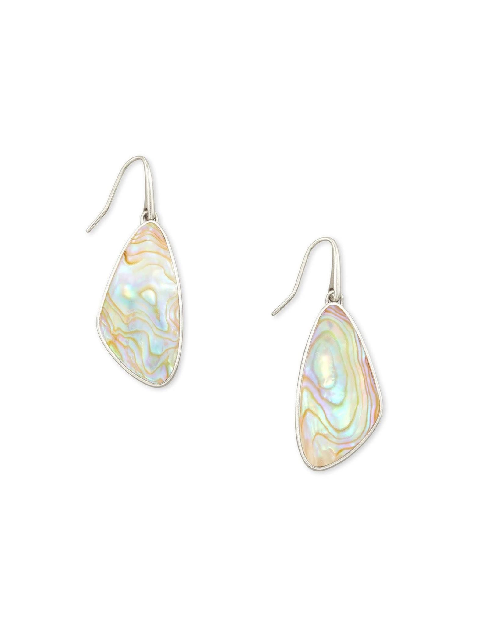 Kendra Scott McKenna Small Drop Earring - Iridescent Abalone/Rhodium
