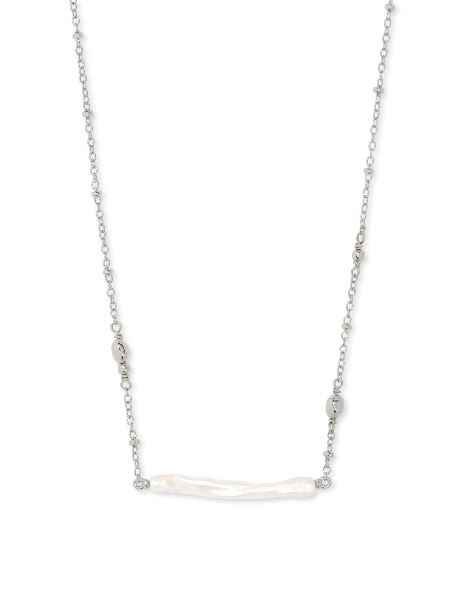 Kendra Scott Eileen Pendant Necklace - White Pearl/Rhodium