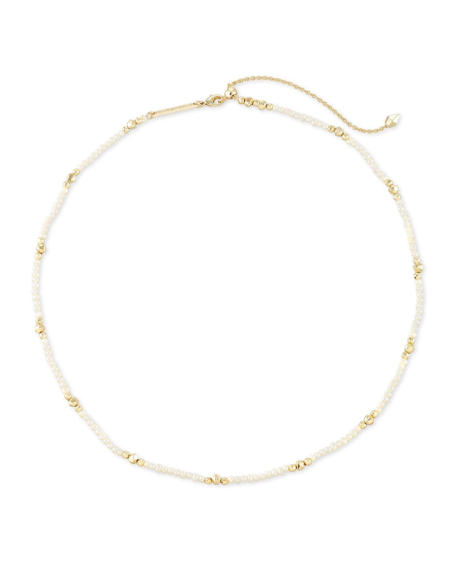 Kendra Scott Scarlet Choker Necklace - White Pearl/Gold