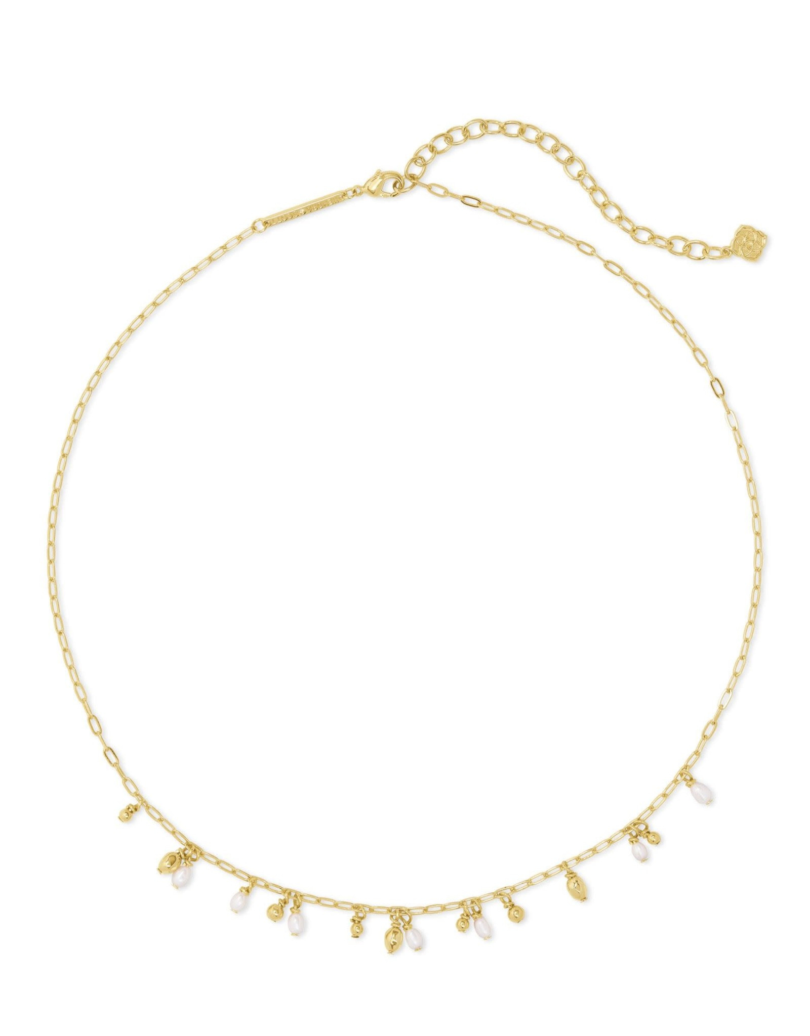 Kendra Scott Mollie Choker Necklace - White Pearl/Gold
