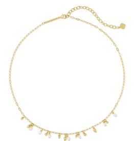 Kendra Scott Mollie Choker Necklace - White Pearl/Gold
