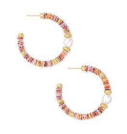 Kendra Scott Lila Hoop Earring - Pastel Shells/Vintage Gold