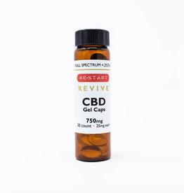 RESTART CBD Capsules • Full Spectrum 25mg • 30 count (750mg)