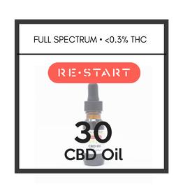 RESTART 30 CBD Oil • Full Spectrum