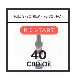RESTART 40 CBD Oil • Full Spectrum