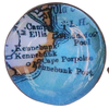 Chart Metalworks Cuff Links - Vintage Maine Map - Bronze
