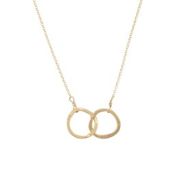 Becoming Jewelry Becoming Jewelry Intertwined Circles - Gold-fill