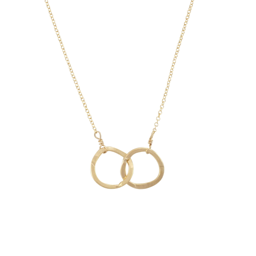 Becoming Jewelry Intertwined Circles - Gold-fill