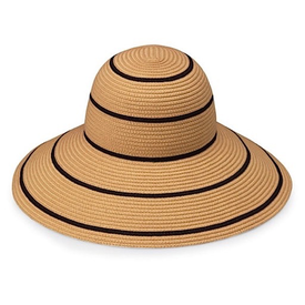 Wallaroo Hat Company Savannah Hat - Camel with Black Stripes