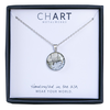 Chart Metalworks Necklace - Kennebunk Beach - Piccolo - Pewter