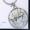 Chart Metalworks Key Ring - Kennebunk Beach - Pewter