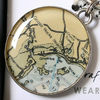 Chart Metalworks Key Ring - Goose Rocks Beach - Pewter