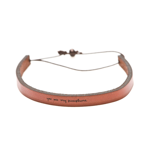 Laurel Denise Leather Cuff - You Are My Sunshine