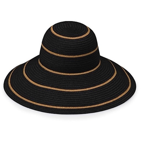 Wallaroo Hat Company Savannah Hat - Black with Camel Stripes