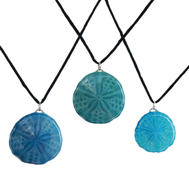 Sarah's Sandollars Sarah's Sand Dollar Necklace - Shades of Blue
