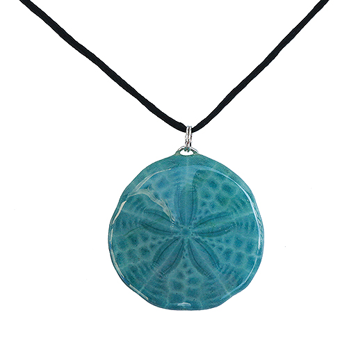 Sarah's Sand Dollar Necklace - Shades of Blue