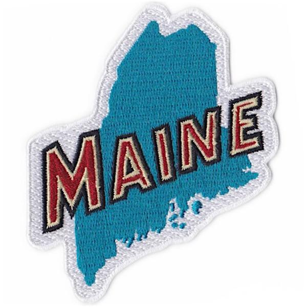 Daytrip Society Daytrip Society Retro Maine Iron-On Patch