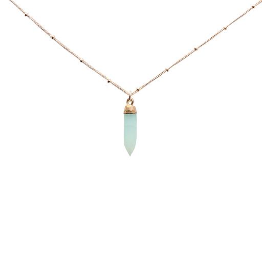 Emma Alexander Necklace - Gemstone Chalcedony - 20in 14K Gold-Fill