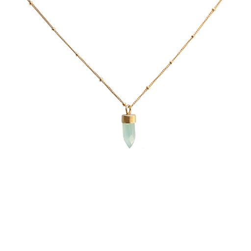 Emma Alexander Necklace - Gemstone Chalcedony - 16in 14K Gold-Fill