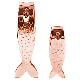 Kikkerland Big Fish, Little Fish Nail Clipper Set - Copper
